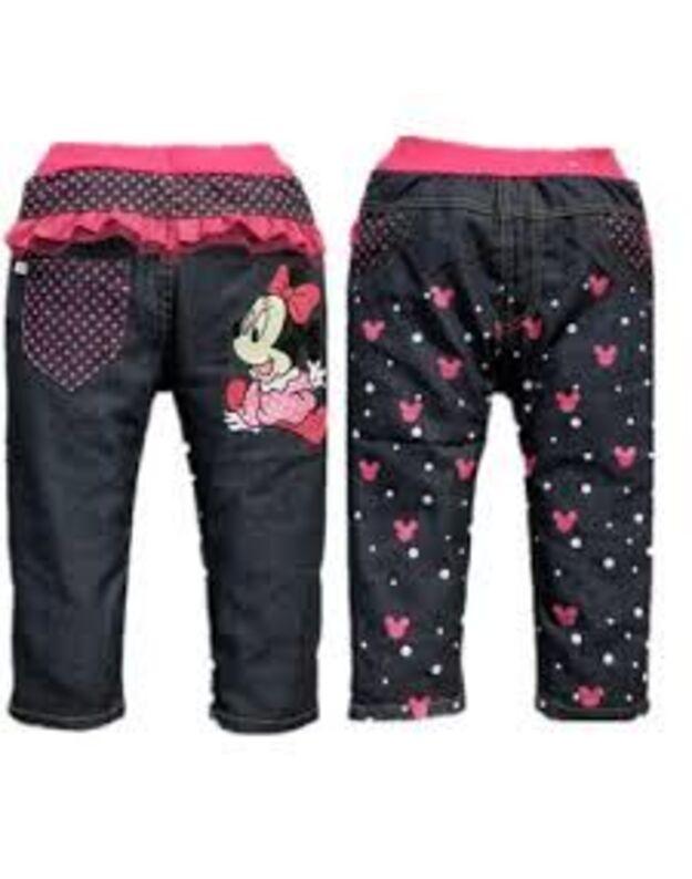 Plonos medžiagytės džinsų imitacijos kelnytės. 104cm